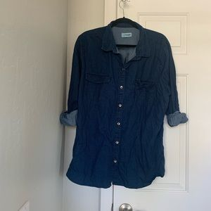 Old Navy chambray style button down top